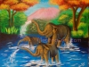elephants-in-forest-acrylic-painting-meghna-unni