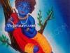 Little Krishna Painting - Acrylic on Canvas