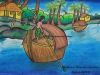 man-rowing-boat-painting