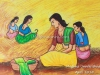 village-women-with-hay-painting-by-meghna-unni