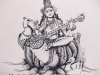 Goddess-Saraswathi-Pen-Sketch-meghna-unni