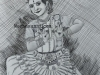 Meghna-Unnikrishnan-Mohiniyattam-Pen-Drawing-with-pencil-shading