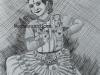 Meghna-Unnikrishnan-Mohiniyattam-Pen-Drawing-with-pencil-shading