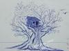 Tree-house-Ballpen-sketch-by-Meghna-Unnikrishnan
