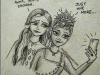 anna-elsa-timepass-drawing-pen-meghna-unni