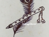 flute-peacock-feather-pen-drawing-meghna-unni