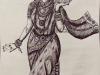 mohini-with-amrutham-pot-pen-drawing-meghna-unni