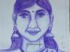 pen-sketch-of-a-lady-meghna-unni