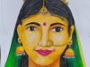 traditional-indian-woman-portrait-10th-std-art-book-meghna-unni