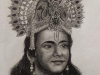 Nitish-Bharadwaj-as-SriKrishna-pencilsketch-meghna-unni