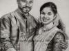 ankitha-raju-sajith-pisharody-pencil-sketch-meghna-unni