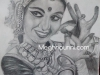 bharathanatyam-dancer-pencil-sketch-meghna-unni