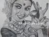 bharathanatyam-dancer-pencil-sketch-meghna-unni