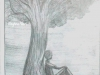 lonely-man-sitting-under-tree-pencil-sketch