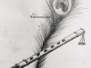 peacock-feather-flute-pencil-sketch-meghna-unni