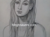 pencil-sketch-portrait-of-lady-by-meghna-unni