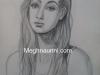pencil-sketch-portrait-of-lady-by-meghna-unni