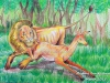 lion-chasing-deer-by-meghna-unni
