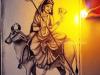 Maa-Shailaputri-Devi-Painting-by-Meghna-Unni