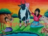 girls-with-cows-calves-painting-meghna-unni