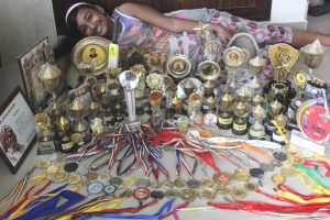 Me with all my awards to-date
