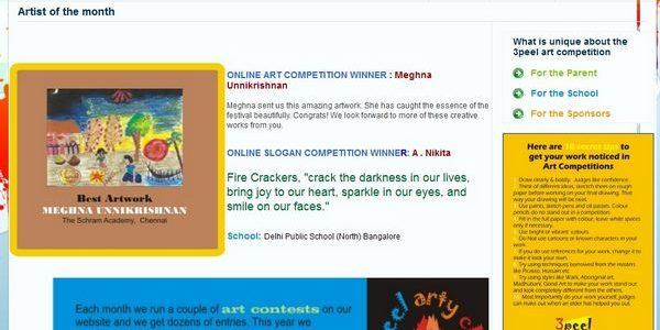 3peel Online Art Competition Winner for September 2011