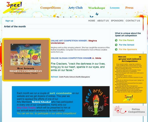 3peel Online Art Competition Winner for September 2011