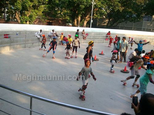 Meghna at Anna Nagar Tower Park Roller Skating Rink