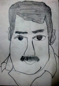 Mohanlal Sketch by Meghna