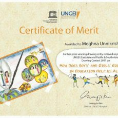 UNESCO Certificate of Merit and the Drawing