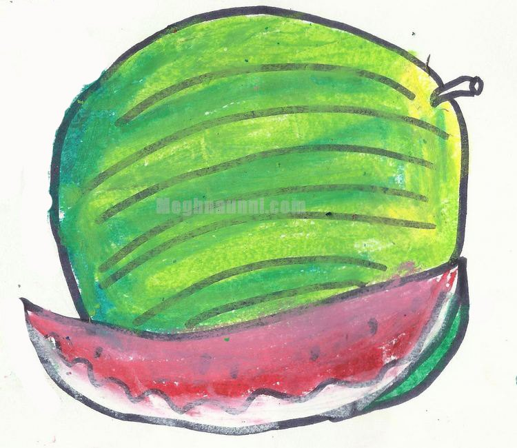 Fruit Drawings by Meghna