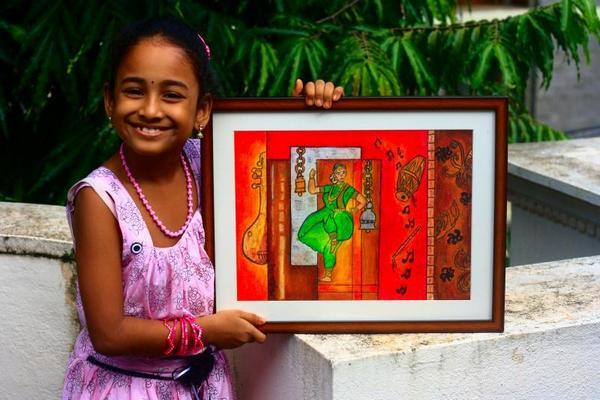 Meghna's Painting Gift to her Dance Teacher