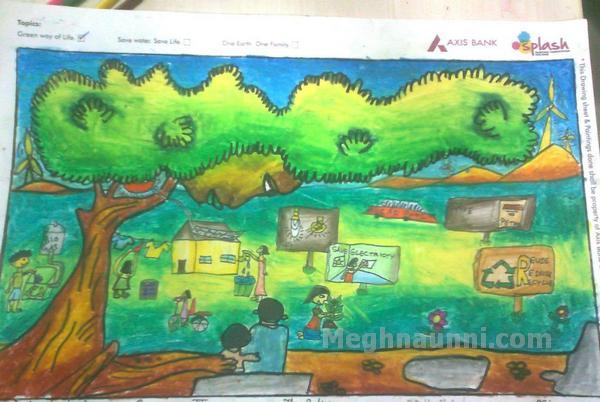 Axis Bank Splash Painting Competition
