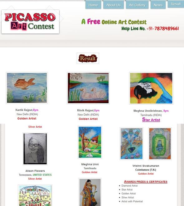 Picasso Art Contest 2013 Star Artist