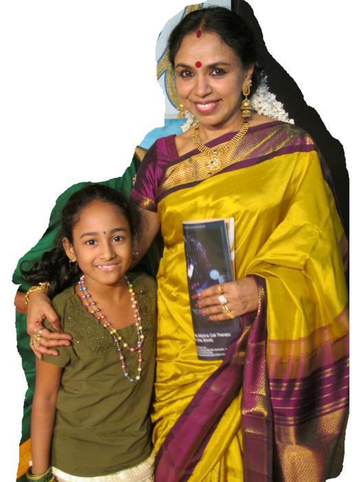 Meghna with Smt. Sudha Raghunathan