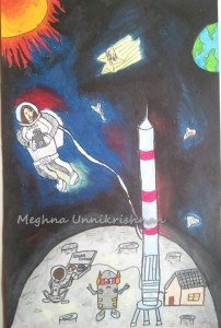 Entry for International Student Art Contest by Space Foundation