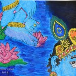 Lord Krishna Abstract Painting