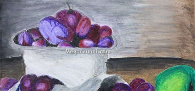 Blueberries Painting by Meghna
