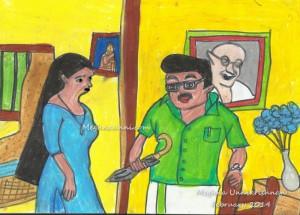 Karyam Nissaram Drawing by Meghna