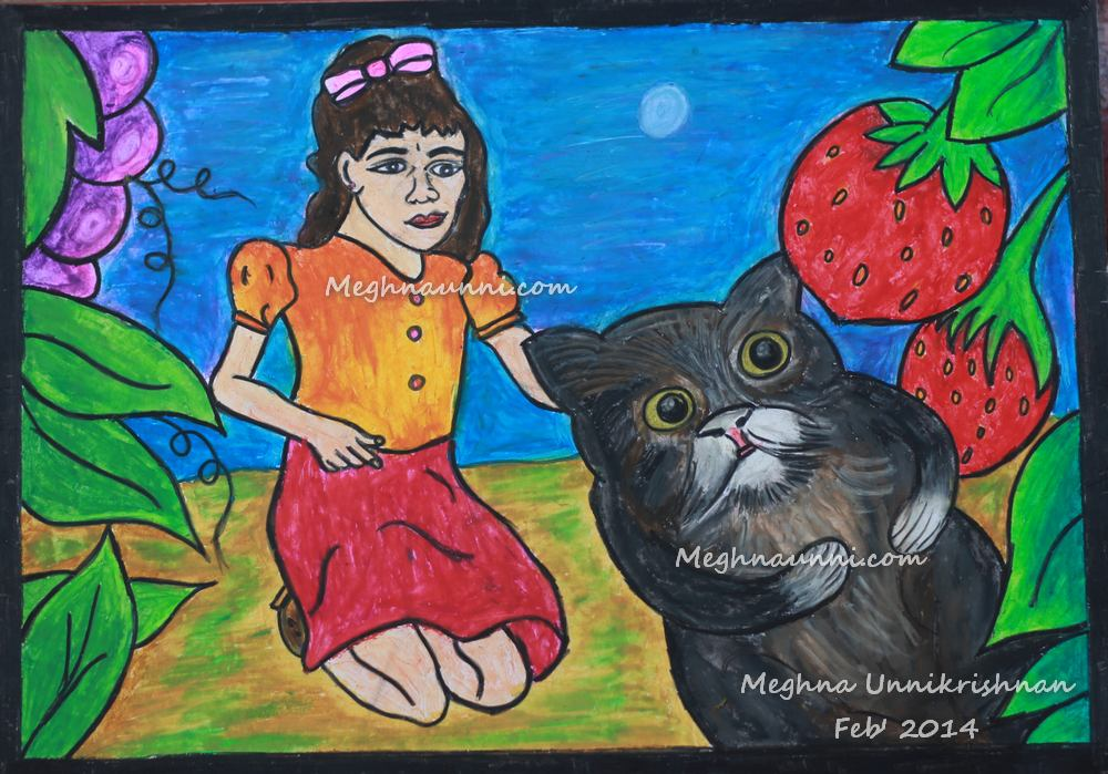 'My Pet' Painting by Meghna