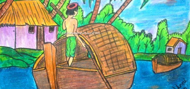 'Sailing' Painting by Meghna Unnikrishnan