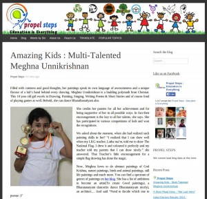 Propel Steps Magazine Article about Meghna