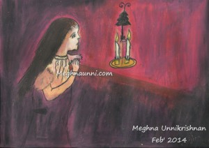 Girl in the Candle Light Painting