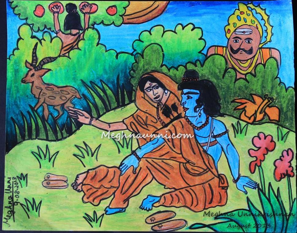 Ramayana Painting for JET Chennai Competition 2013