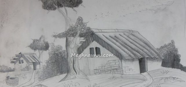 House Pencil Shading Work