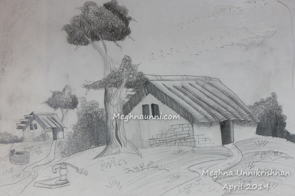 House Pencil Shading Work