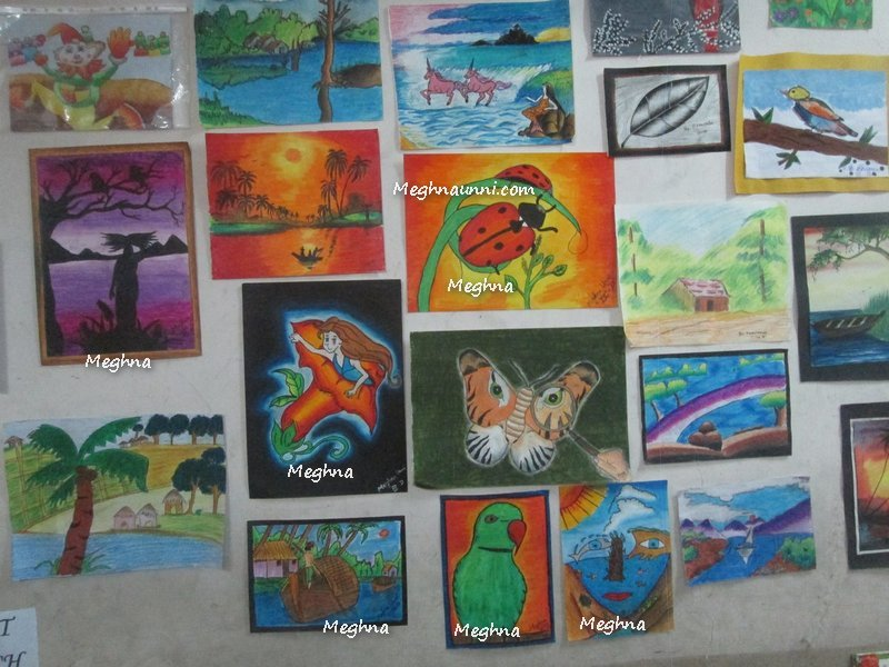 Paintings displayed at my school Parents Review Day