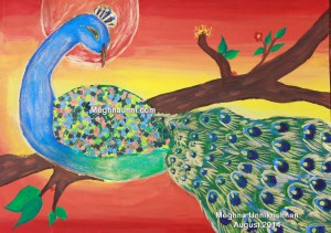 3rd Peacock – The National Bird Painting Competition 2014