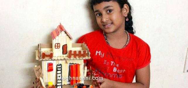 Ice Cream Stick House Craft for School Project