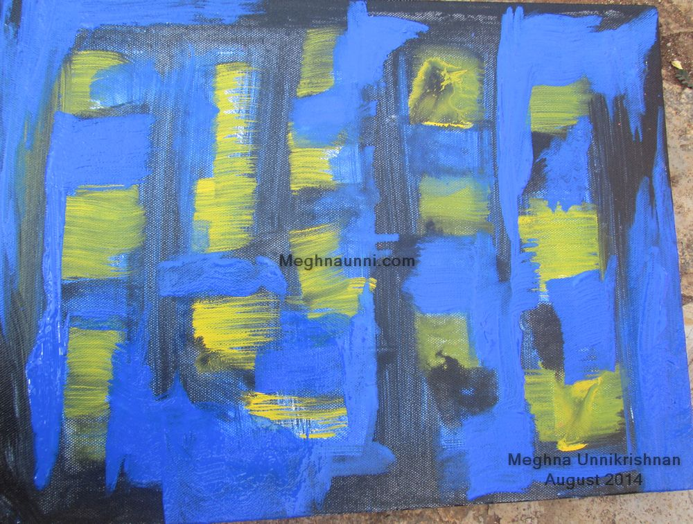 Abstract Canvas Painting done at Berserk 2014, Bangalore